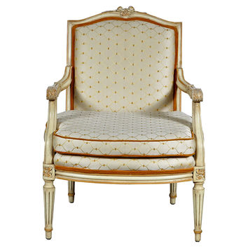 French Provençal-Style Carved  Chair