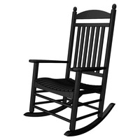 Bedford Rocker, Black, Outdoor Rocking Chairs