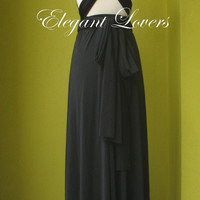 Black Wedding Dress Bridesmaid Dress Infinity Dress Wrap Dress Formal Dress Sexy Evening Dress Cocktail Dress Party Dress