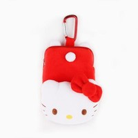 Hello Kitty Carabiner Pouch: Red