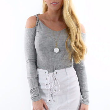This Town Heather Gray Long Sleeve Top