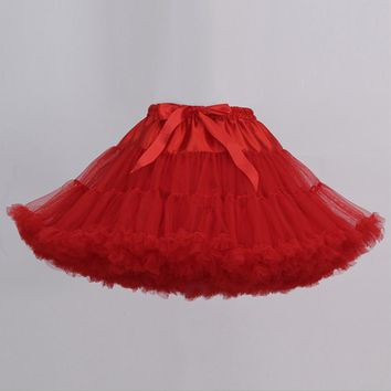 Extra Fluffy Teenage Girl Adualt Women Pettiskirt Tutu Women Tutu Party Dance Adult Skirt Performance Cloth Skirts
