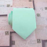Necktie Pastel Mint Green Mens Tie