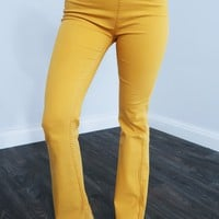 Live Your Life Pants: Mustard