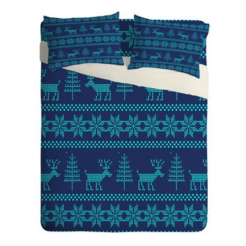 Natt Knitting Turquoise Deer Sheet Set Lightweight