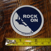ROCK ON Climbing Clothing STICKER Decal NEW