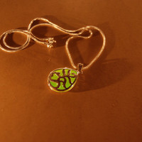 Glow in the Dark Jewelry - Green Glowing Necklace - Pendant - Gifts for Her - Birthday Gift - Water Drop
