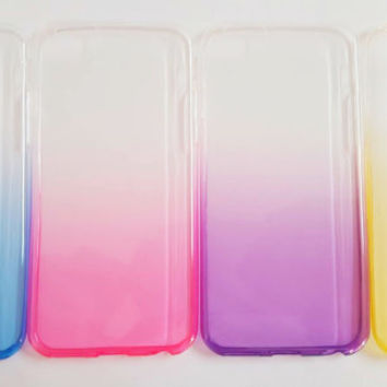 iPhone 6 Case - Ombre Case -Thin Flexible Phone Case