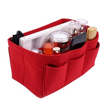 Haloyo Felt Fabric Purse Organizer Insert Bag In Bag for Handbag Tote Bag Multi-Pocket