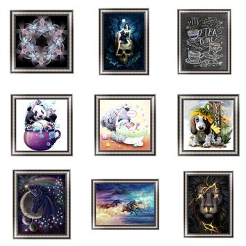 Ferocious Lion 5D Diamond Embroidery Painting Kit DIY Cross Stitch Modern Wall Art MAG