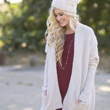 Sophie Ivory Knit Cardigan