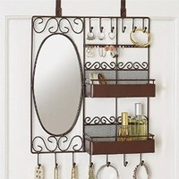 Brylanehome Over-The-Door Jewelry And Cosmetic Organizer