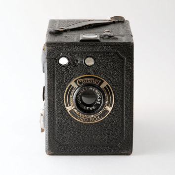 Vintage Coronet 020 Box Camera 1930s 120 Roll Film Camera