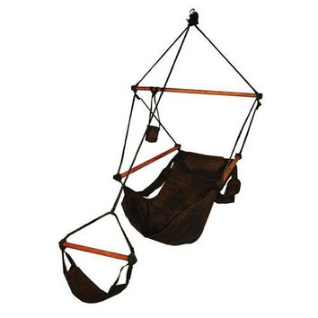 Hammaka Original Outdoor/Patio/Lawn & Garden Hammocks Swing Hanging Air Chair With Pillow & Drink Holder