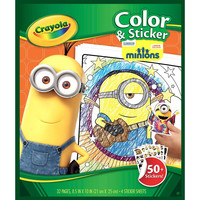 Crayola Minions Coloring Sticker Book Ages 3 and Up