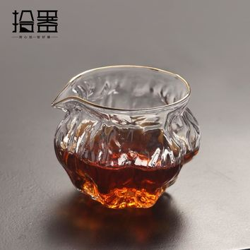 230ml Japanese Handmade Heat Resistant Glass Kung Fu Coffee Tea Set Drinkware Insulated Clear Teapot Kettle Travel Portable Cup