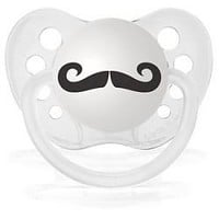 """Mustache"" Expression Pacifiers - GreenPea Baby"