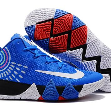 Nike Kyrie Irving 4 Royal Blue-White Sport Shoes US7-12