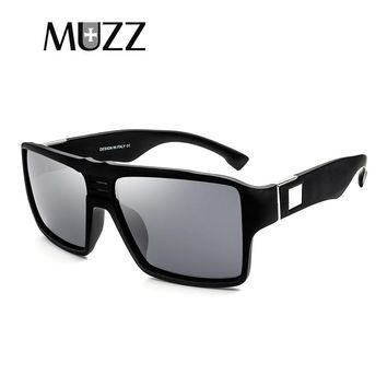 MUZZ  Spied Sunglasses Men's Polarized Color lenses Sunglasses Square Spied Men Rectangle Eyewear 100% UV400