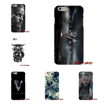 Transparent Soft Shell Covers Vikings Ragnar Lothbrok Logo For Samsung Galaxy S3 S4 S5 MINI S6 S7 edge S8 S9 Plus Note 2 3 4 5 8