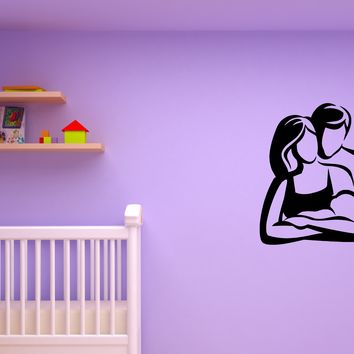 Wall Decal Family Parents Child Baby Mom and Dad Vinyl Sticker (ed1322)