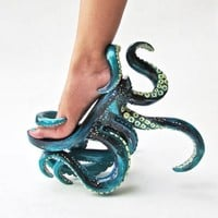 Tentacle High Heel Shoes Are Cthulhu Approved