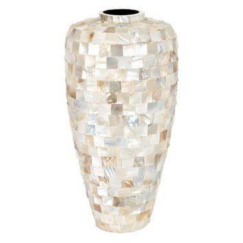 Aspire Ceramic Mother of Pearl Vase