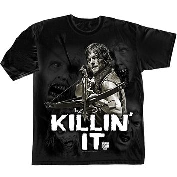 WALKING DEAD KILLIN' IT - BLACK Adult T-Shirt S
