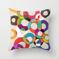 Loop Hoop Throw Pillow by Budi Satria Kwan