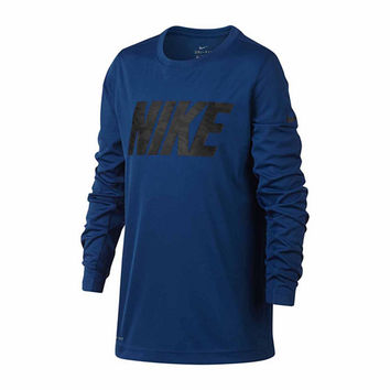 Nike Long Sleeve Crew Neck T-Shirt-Big Kid Boys - JCPenney