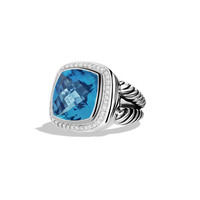 Albion Ring with Blue Topaz and Diamonds - David Yurman