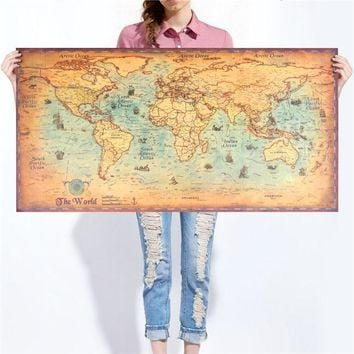 Vintage World Map Retro poster