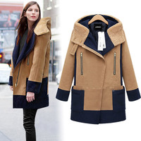 Fashion Hooded thick wool coat BC1219CA