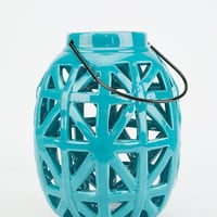 Luna Ceramic Lantern Turquoise One Size For Women 27549724101