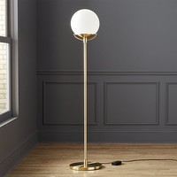 globe brass floor lamp