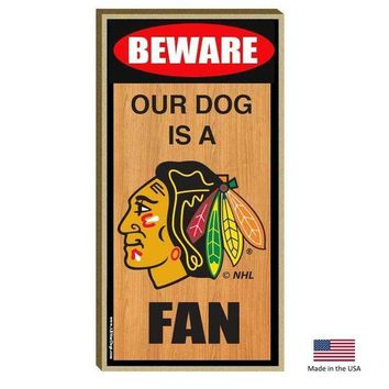 DCCKGW6 Chicago Blackhawks Wood Sign