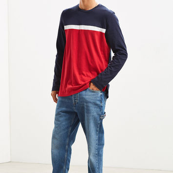 Tommy Hilfiger Blocked Long Sleeve Tee | Urban Outfitters