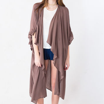 Willow Branch Kimono in Brown
