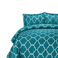 Lattice Bedding - Teal