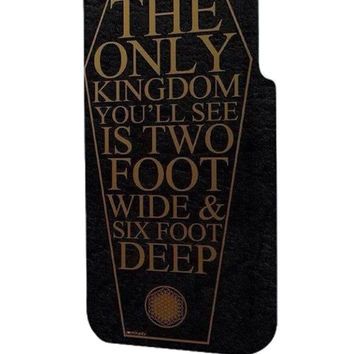 Best 3D Full Wrap Phone Case - Hard (PC) Cover with Bring Me The Horizon Coffin The House Quote Lyric Design