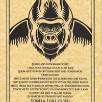 Gorilla Prayer Poster