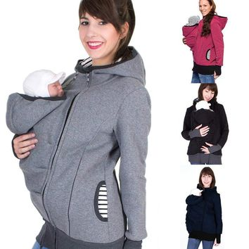 Baby Kangaroo Carrier Hoodie for Women