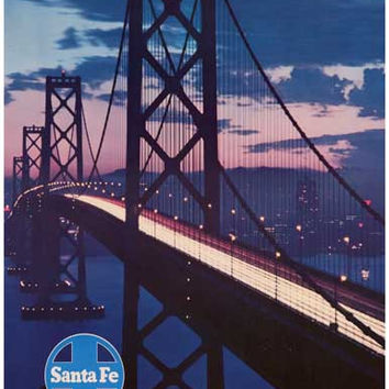 Santa Fe Railroad San Francisco Travel Poster 11x17