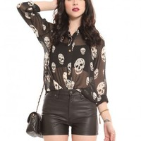 Classic Skull Blouse - It's Only Rock N Roll - Lookbook | GYPSY WARRIOR