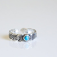 925 Silver Turquoise  Toe Ring