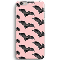 Cute Bat Pattern Pink Color iPhone 6 Case, iPhone 5S Case