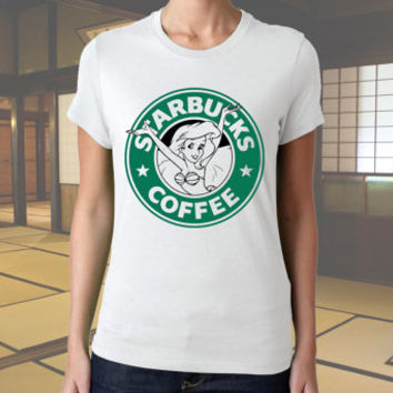 starbucks parody ariel the little mermaid for men t shirt, women t shirt, cotton t shirt, men and women t shirt