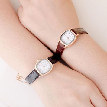 Fashion Small Dial Dress Women Watch ladies Girls Watch Leather Women Wristwatch