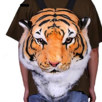 2017 new Cool HUGE Luxury Tiger Head White Tiger Head style Bag Knapsack Backpack tiger bags 2 sizes drop shipping