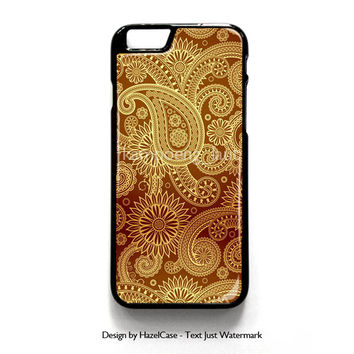 Red Gold Damask Pattern for iPhone 4 4S 5 5S 5C 6 6 Plus , iPod Touch 4 5  , Samsung Galaxy S3 S4 S5 Note 3 Note 4 , and HTC One X M7 M8 Case Cover